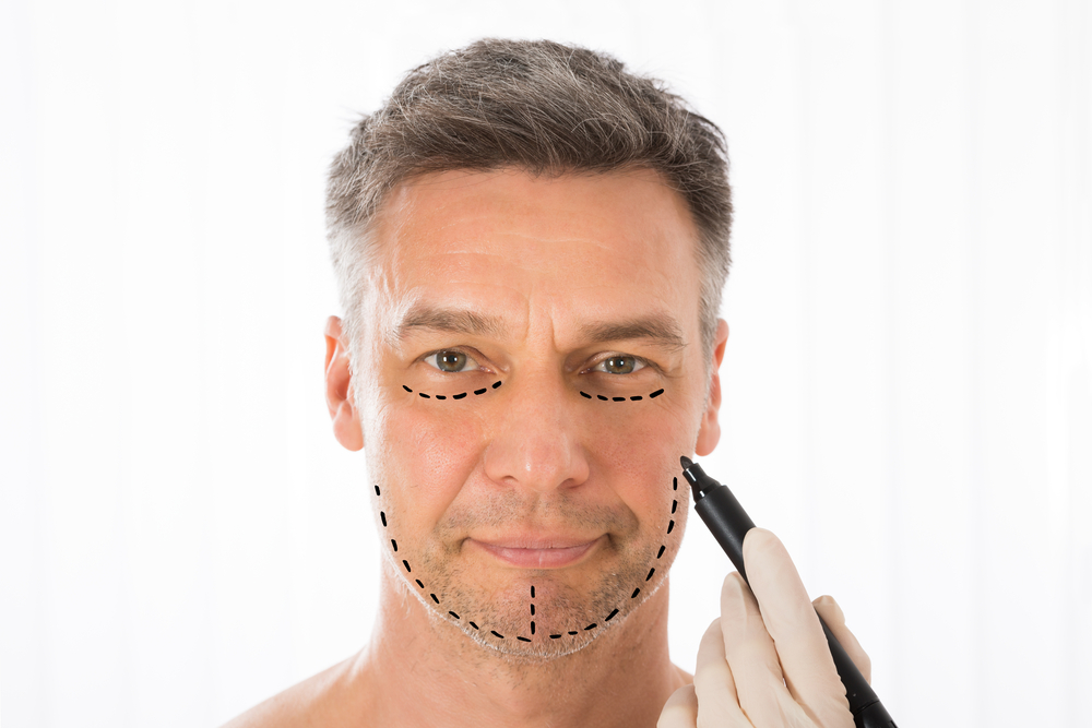 Procedures to reduce facial ageing for men